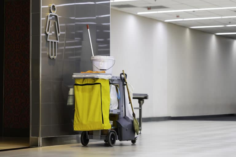 bathroom cleaning at small business