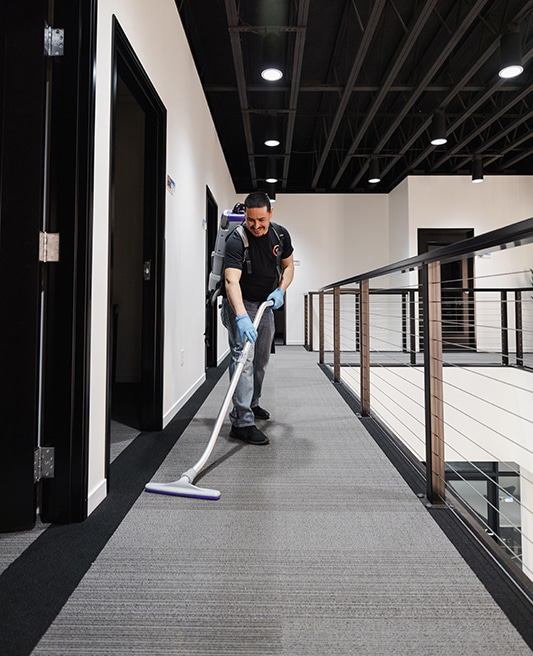 premier business janitorial service worker
